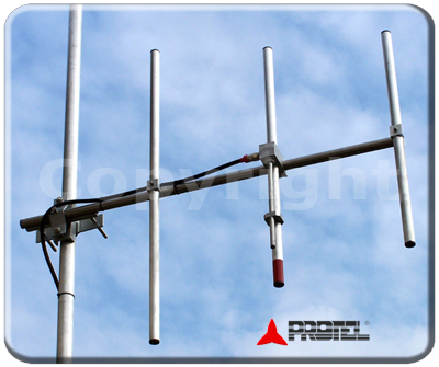 Yagi directional 3 elements 150-300MHz - Protel AntennaKit