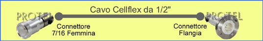 "Cable Cellflex 1/2"" 7/16f-flange Protel AntennaKit"