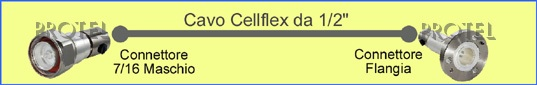 "Cable Cellflex 1/2 "" - 7/16m/flange Protel AntennaKit"