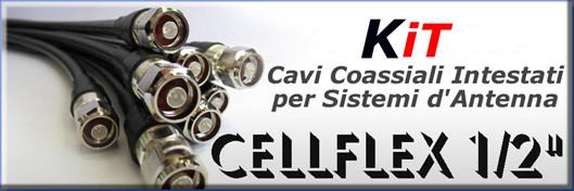 "Cellflex cables 1/2"" headed for antenna systems FM - Protel AntennaKit"